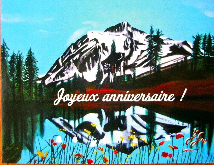 Montagne Lac Anniversaire Messages Divers Plage Joyeux
